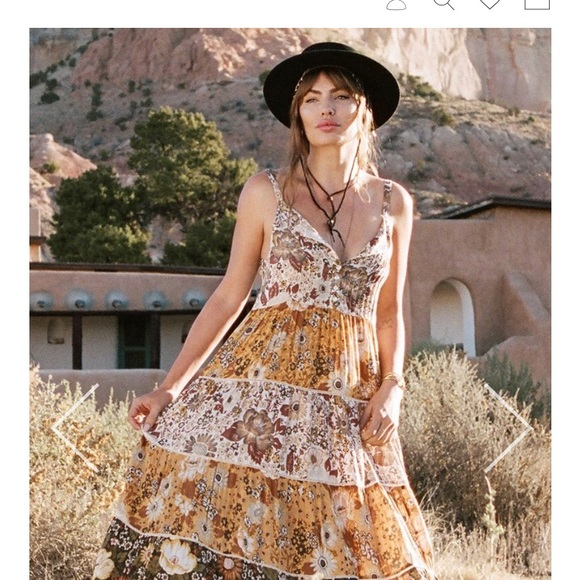 e25791379be Desert Daisy mustard maxi dress. NWT. Spell   The Gypsy Collective